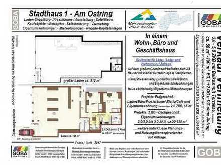 Lu Oppau/Edigh./Kapitalanlage:Laden-/Büro-/Praxisräume/Café u. 2,0 ZKB WHG 200 m² gute Verkaufslage