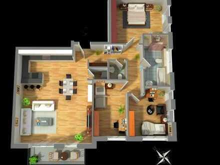 Wohnen am Bahnhof - stilvolle 4 Zimmer Wohnung mit großzügiger Raumaufteilung