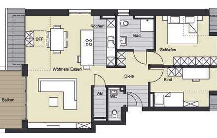 *EXKLUSIVER NEUBAU*3-Zimmer-Dachgeschosswohnung in Aachen-Haaren zu verkaufen ( We 7 )