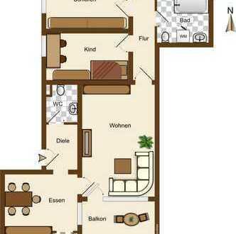 Modernisierte, lichtdurchflutete 4,5-Zimmer-Wohnung mit Balkon Tiefgarage in Köln Weiden