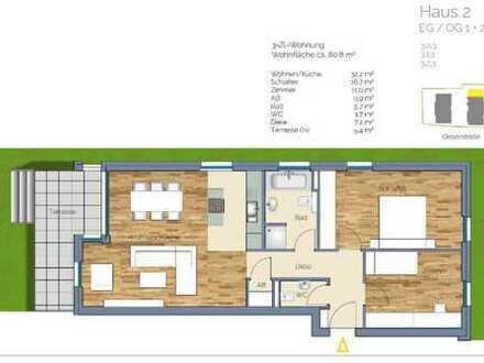Erstbezug mit Balkon: exklusive 3-Zimmer-Wohnung in Frankfurt am Main - Nied