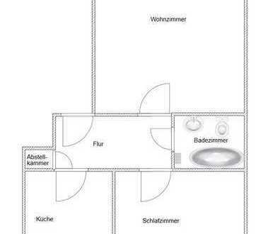 Sonnige renovierte 2 Zimmer Wohnung in Dinslaken-Hiesfeld