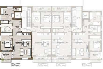 Neubau - 12 Wohnungen - zentrumsnah - ruhige Lage - Beispiel Wohnung 5