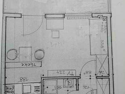 1-Zi.-Wohnung mit gr.Balkon und Einbauküche in Stutensee-Büchig, KIT/Durlacher Tor 12 Min.