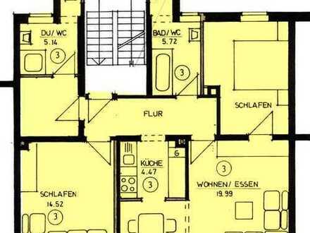 Eine sonnige 3-Raum-Wohnung in einem kleinem MFH