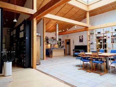 Individuelles Holzhaus in der Elbtalaue