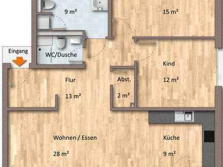 Penthouse mit 3 Zimmern, Fernblick, EBK, Parkett & TG-Platz!