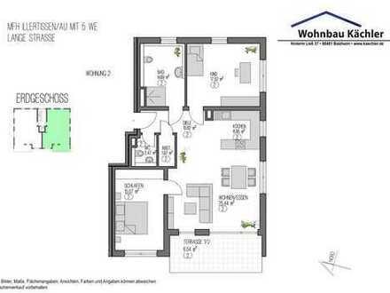 3-Zimmer-Wohnung in Illertissen / Au im Erdgeschoß mit kleinem Garten