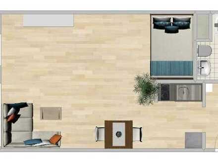 Helle Vollmöblierte 1-Zimmer-Wohnung mit Balkon in Durmersheim