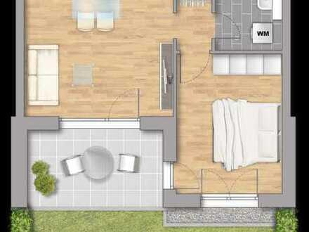 Eigener Garten inclusive! 2-Zimmer Gartenwohnung nach Süden ausgerichtet