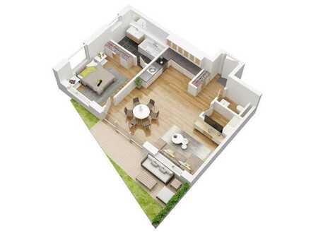 Gartengeschosswohnung in besonderer Wohnanlage im KfW 40+ Standard