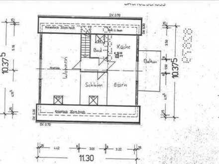 Erstbezug nach Renovierung 2,5-Zimmer-Dachgeschosswohnung