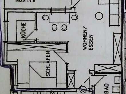 Ruhige helle 2-Zimmer-Wohnung mit Süd-Balkon in Rauenberg