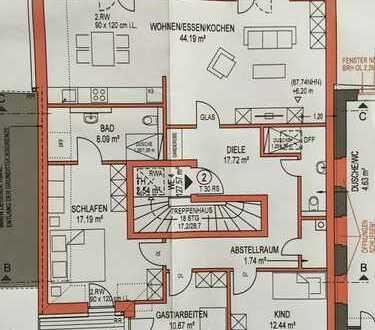 Erstbezug, stilvolle 4 Z-Wohnung in Bonn-Ramersdorf, Dachterrasse, Balkon, Stellplatz