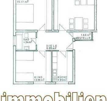 Wohnung mit geschlossener Loggia / Grüne Lage