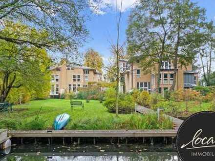 Hochwertige Maisonette-Wohnung mit Terrasse, Gartenanteil und Wasserzugang in top Lage!