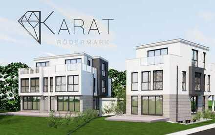 Luxuriöse moderne Doppelhaushälfte am Feldrand von Urberach