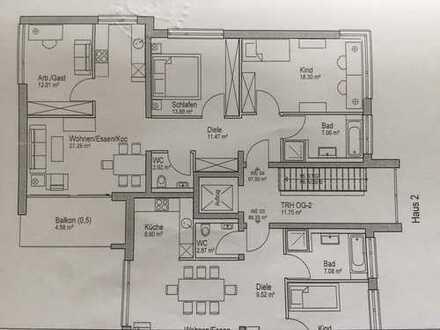 Sehr schöne helle Wohnung, Bj. 2016, gehobene Ausstattung 970€, 98 m², 4 Zimmer