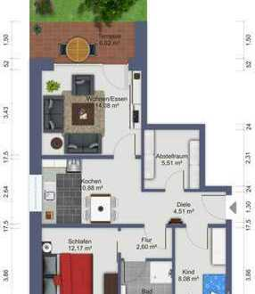 Erstbezug: ansprechende 2-Zimmer-Wohnung mit Einbauküche und Balkon in Cuxhaven (Kreis)