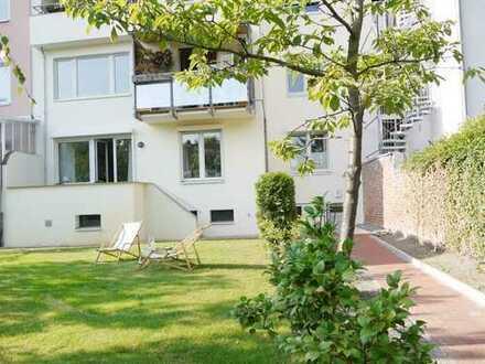 Wohlfühlwohnung mit Terrasse und Gartennutzung