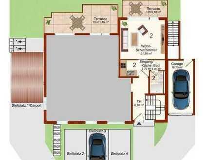 Apartment mit großem Garten zum Selbstbezug oder Kapitalanlage