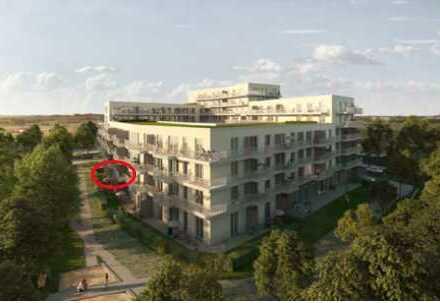 Erstbezug: exklusive 2-Zimmer-Wohnung mit Einbauküche, Balkon, Tiefgarage direkt an der S8