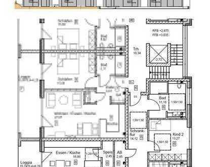 Erstbezug: ansprechende 4-Zimmer-Wohnung mit Einbauküche und Balkon in Jettingen