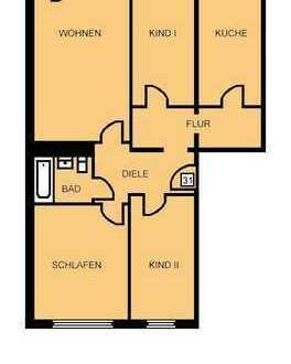 Attraktive 4 Raumwohnung! Frisch renoviert + neues Laminat
