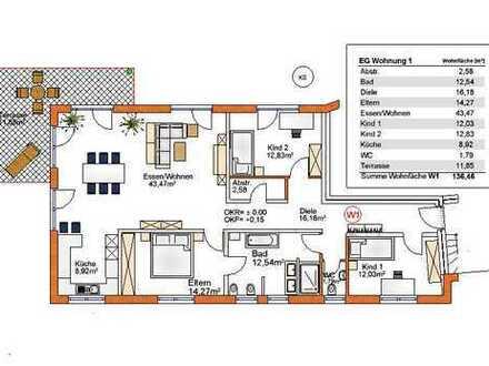 Barrierefreie 4 Zi. Wohnung für den Lebensabend, Aufzug, Garage und Stellplatz, 2 E-Bike Garagen