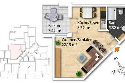 Appartment im Obergeschoss inkl. Balkon