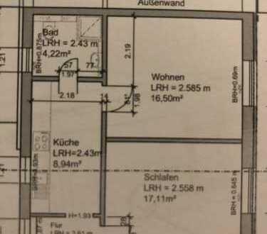 850 €, 50 m², 2 Zimmer