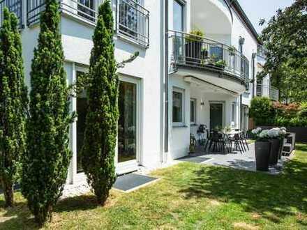 Erstklassiges Wohnambiente, 3-Zimmer-Gartenwohnung mit großem uneinsehbarem Garten zzgl. Garage
