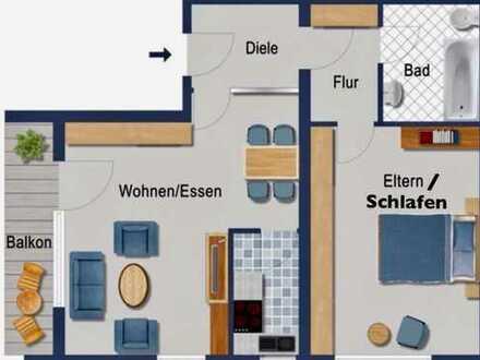 Schicke 2-Zimmer Wohnung mit Südbalkon und Einzelgarage in Speyer
