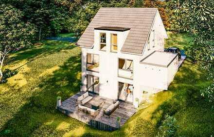 Moderne Einfamilienhaus mit Weitblick, frei planbar mit Wärmepumpe (ca.140m² schlüsselfertig) KFW 55