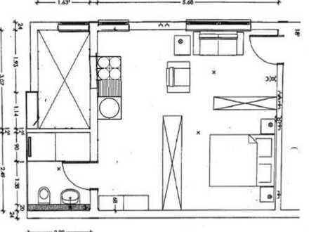 NEUBAU Großzügiges 1 Zimmer-Apartment mit Luxusbad u. EBK - AB 1.4.2020 NUR AN STUDENTEN!