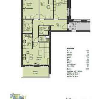 Erstbezug- Moderne-4-Raum Wohnung mit Terrasse