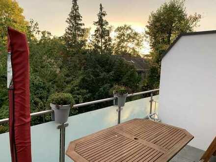 Helle 3-Zimmer-DG-Wohnung mit Sonnenbalkon im Neubau in Neuss