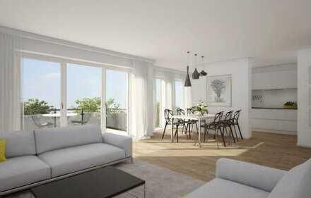 Platz für die ganze Familie! Neubau 4 Zimmer-Wohnung mit 21m² Dachterrasse!