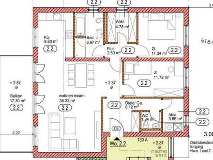 Erstbezug mit Balkon: exklusive 3-Zimmer-Wohnung in Lorsch