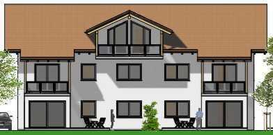 4-Zi.-ETW, komplettes Dachgeschoss mit Balkon u. Bergblick im Neubauprojekt in Saaldorf.
