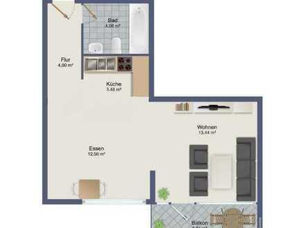 Schöne 1-Zimmer-Wohnung mit Balkon und EBK in Freudenstadt