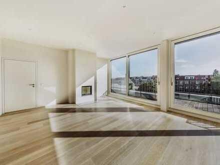 Luxus Penthouse mit Aufdachterrasse / Tiefgarage, Sauna, Klima, Kamin, Einbauküche, Dachterr.