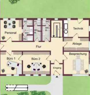 """toll geschnittene Büro-, oder Praxisräume mit großer """" Dienstwohnung """" im Gewebegebiet günstig !!,"""