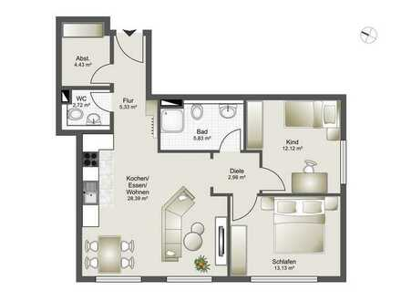 Neubau 8 Familienhaus-Zentrumsnahme ab 2,5 Zi. bis 4,5 Zi. ETW Whg. 5