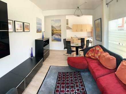 Moderne, möblierte 2-Zimmer-Wohnung in ruhigem Mehrfamilienhaus in Gransee