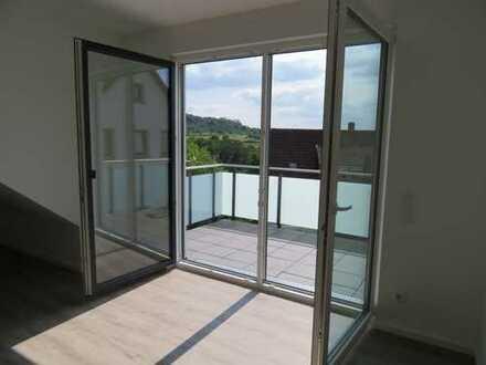 Neubau, Erstbezug, 2-Zi-DG-Wohnung inkl. EBK über den Dächern von Schweinheim, mit 2 Balkonen