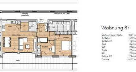 Wohnpark Sonnenfeld, 5.OG, 3-Zimmer, Wohnung 87