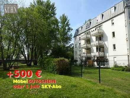 500€ geschenkt - 1-Raum WE mit EBK und Terrasse in ruhiger Seitenstraße, am Muldenradweg