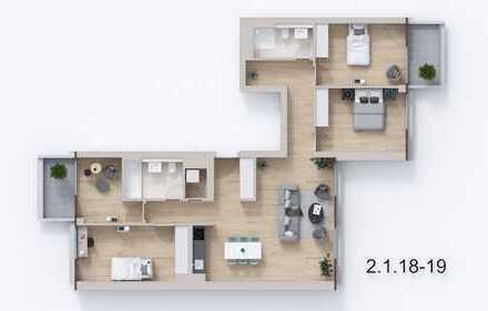 """Optimal geschnittene 5- Zimmer- Wohnung im Neubauensemble """"Neue Florahöfe"""" mit 2 Balkonen"""