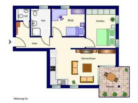 In der Beletage (mit Aufzug): 3-Zimmer-Neubau-Wohnung mit Balkon